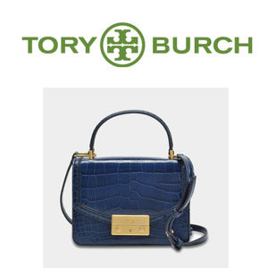 *SOLD* TORY BURCH Juliette Croc Embossed Satchel